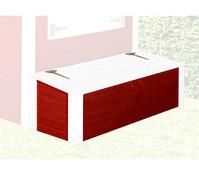 Tabaluga Schatztruhe mit Deckel, rot/weiß
