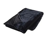 Tagesdecke Kunstfell in schwarz, 130 x 170 cm
