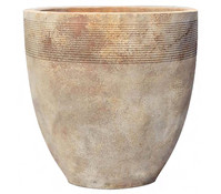 Terrakotta Blumentopf, rund, antico