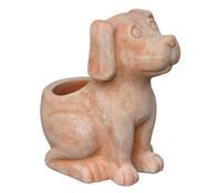 Terrakotta-Pflanztopf Hund, 30 x 19 x 30 cm