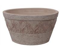 Terrakotta-Schale mit Dekor, rund