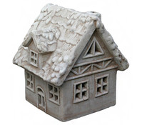 Terrakotta-Windlicht Haus, 28 x 24 x 30 cm