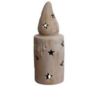 Terrakotta-Windlicht Kerze, 15 x 15 x 40 cm
