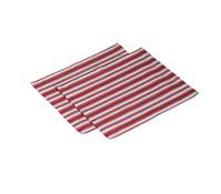 Tischset Leona, 35 x 45 cm, rot/weiß