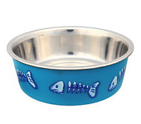 Trixie Edelstahlnapf mit Kunststoffmantel, 0,25 ml