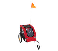 Trixie Fahrradanhänger für den Hund, rot/schwarz