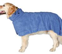 Trixie Hundebademantel blau, Größe L