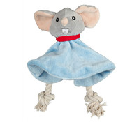 Trixie Hundespielzeug Hundekönig Maus-Tuch Leopold