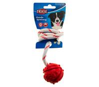 Trixie Hundespielzeug Naturgummiball am Seil