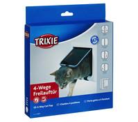 Trixie Katzenklappe 4-Wege-Freilauftür, 15,8 x 14,7 cm