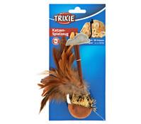 Trixie Katzenspielzeug Federball mit Maus
