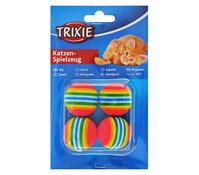 Trixie Katzenspielzeug Rainbowbälle, 4 Stk.