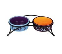 Trixie Keramiknapf-Set Eat on Feet für Katzen, 2x0,3 l