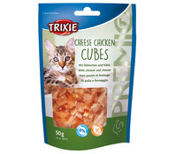Trixie Premio Cheese Chicken Cubes, Katzensnack, 50 g