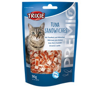 Trixie Premio Tuna Sandwiches Light, Katzensnacks, 50 g