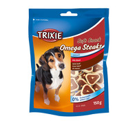 Trixie Soft Snack Omega Steaks Light, Hundesnack, 150g