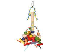 Trixie Vogelspielzeug aus Holz, bunt