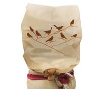 Videx Vlieshaube Vögel, 120 x 180 cm, beige