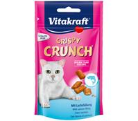 Vitakraft Crispy Crunch mit Lachs, Katzensnack, 60 g