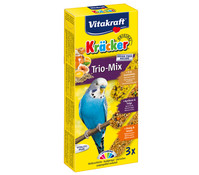 Vitakraft Kräcker Trio Mix, Ei, Frucht & Honig für Wellensittiche