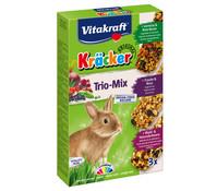 Vitakraft Kräcker Trio-Mix, Gemüse, Nuss & Waldbeere für Zwergkaninchen
