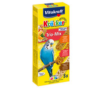 Vitakraft Kräcker Trio-Mix, Honig, Orange & Popcorn für Wellensittiche