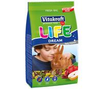 Vitakraft Life Dream getreidefrei, Zwergkaninchenfutter, 1,8 kg