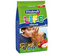 Vitakraft Life Dream getreidefrei, Zwergkaninchenfutter, 600 g