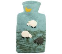 Wärmflasche Filz Schafe