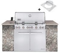 Weber Gasgrill Summit S-660 Built-In GBS, Edelstahl