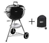 Weber One Touch Original 47 cm, mit Abdeckhaube, black