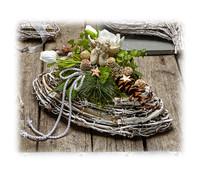 Weihnachtsgesteck künstlich, oval