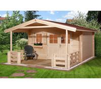 Weka Gartenhaus 111 mit Vordach + Terrasse
