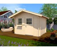 Weka Gartenhaus 131 Sparset + Vordach 60 cm