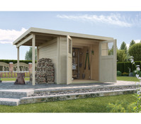 Weka Gartenhaus 321 + Anbau 115 cm