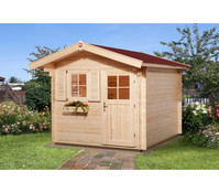 Weka Gartenhaus Premium 28 FT Sparset + Vordach 60 cm