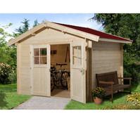Weka Gartenhaus Premium28 Sparset + Vordach 20 cm