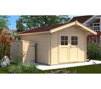 Weka Gartenhaus Premium28 Sparset + Vordach 60 cm