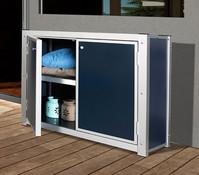 Weka Premium Balkon- und Terrassenschrank, 100 x 50 x 80 cm