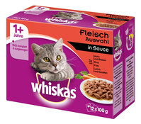 Whiskas® 1+ Fleischauswahl in Sauce, Nassfutter