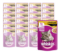 Whiskas® 1+ in Sauce, Nassfutter, 24 x 100g