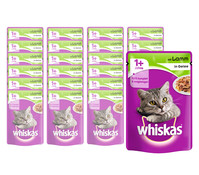 Whiskas® 1+ Lamm in Gelee, Nassfutter, 24x100g