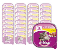 Whiskas® Adult Sensitiv/Vital & Lecker, Nassfutter, 32x100g