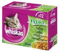 Whiskas® Bio, Nassfutter, 12x100g