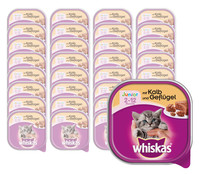 Whiskas® Junior Kalb&Geflügel, Nassfutter, 32x100g