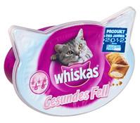 Whiskas® Knuspertaschen Gesundes Fell, Katzensnack, 50g
