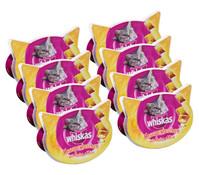 Whiskas® Knuspertaschen Huhn & Käse, Katzensnack, 8x60 g