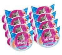 Whiskas® Knuspertaschen Lachs, Katzensnack, 8x60 g
