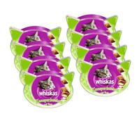 Whiskas® Knuspertaschen Pute, Katzensnack, 8x60 g
