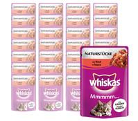 Whiskas® Mmmmm... Naturstücke, Nassfutter, 28 x 85g